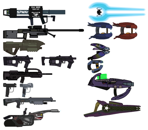 Secondly  Harvest  and other Halo Weapons